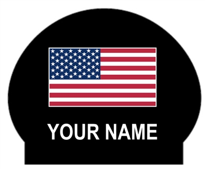 Swimzee.com - American Flag Latex Caps with Your Individual Name