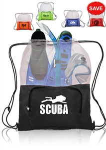 Swimzee.com - Custom Mesh Equipment Bag w/ Zip Pocket