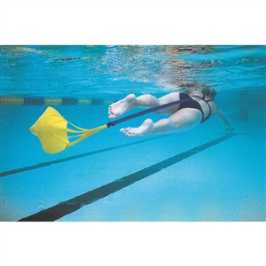 Swimzee.com - StrechCordz® Drag Belt/Tow Tether w/ Parachute